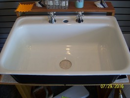 "30"" x 21"" Kitchen Sink<br> Refinished in White<br>MFR. Date 6-5-58 <br>$425.00"