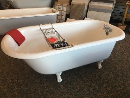 "5 ft. x 30"" Clawfoot Tub <br>Interior, Exterior,"