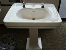 "27"" x 22"" <br>Pedestal <br>China Sink <br>$475.00"