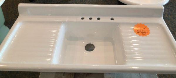 "Sink basin kitchen sink with double drainboard 54"" x 24"" <br>Price: $525.00"